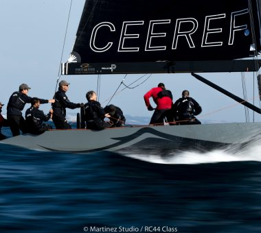 Team CEEREF on a charge at RC44 World Championship